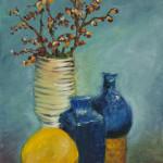 Blue Vase, Oranges