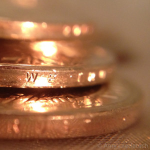 Golden Dollar Coin Stack
