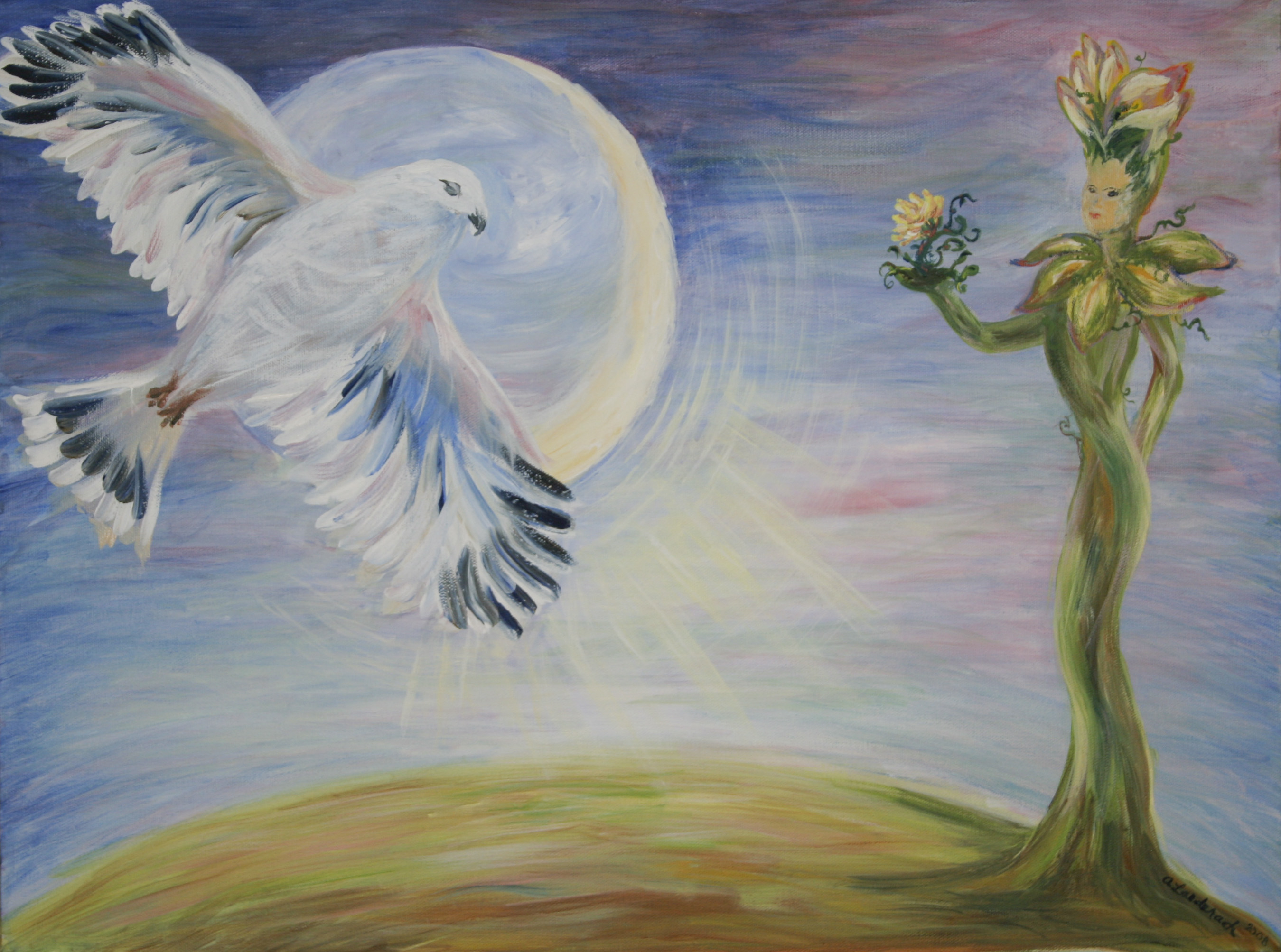 White Hawk, Moon & Earth Goddess